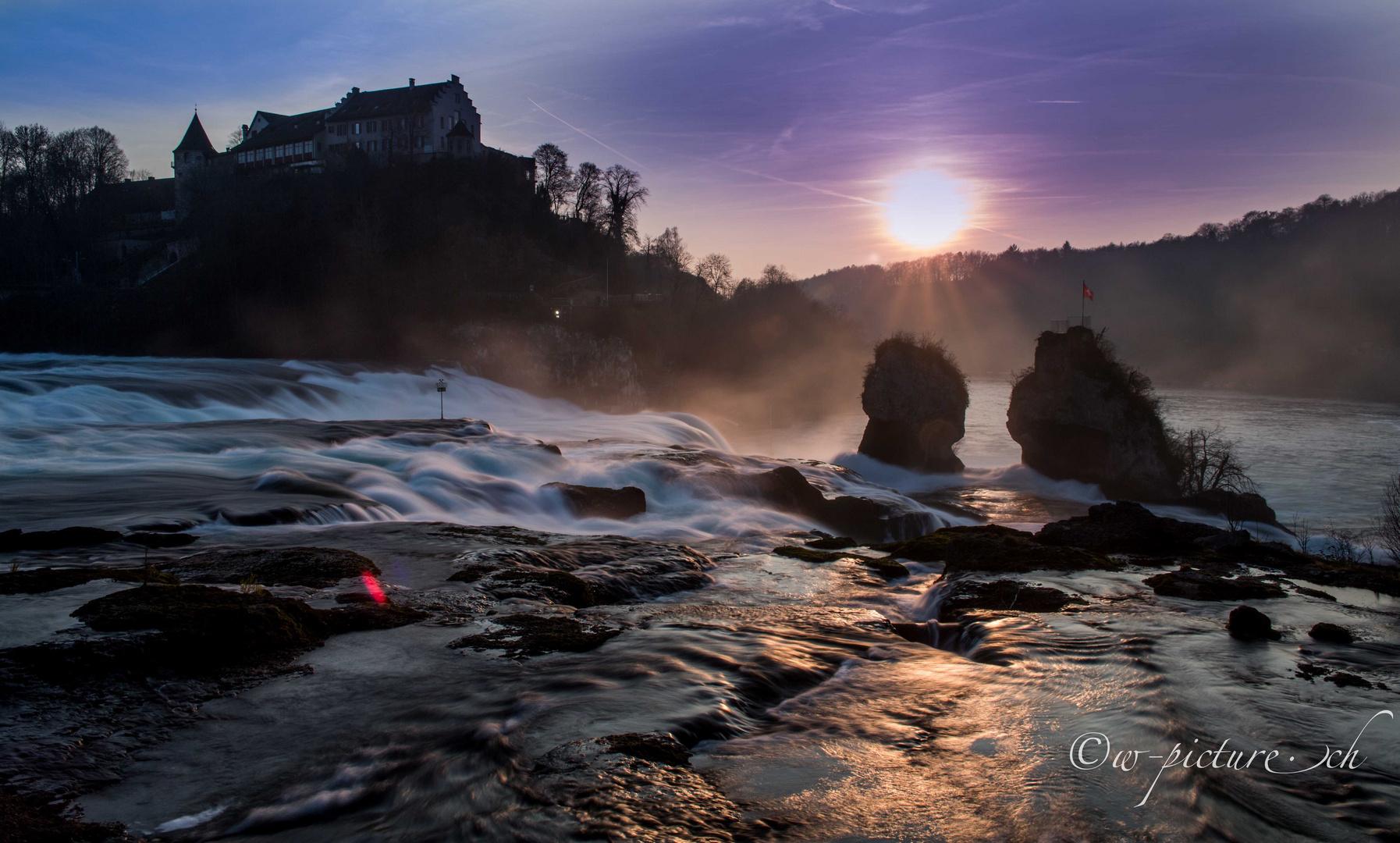Rheinfall, Sonnenuntergang