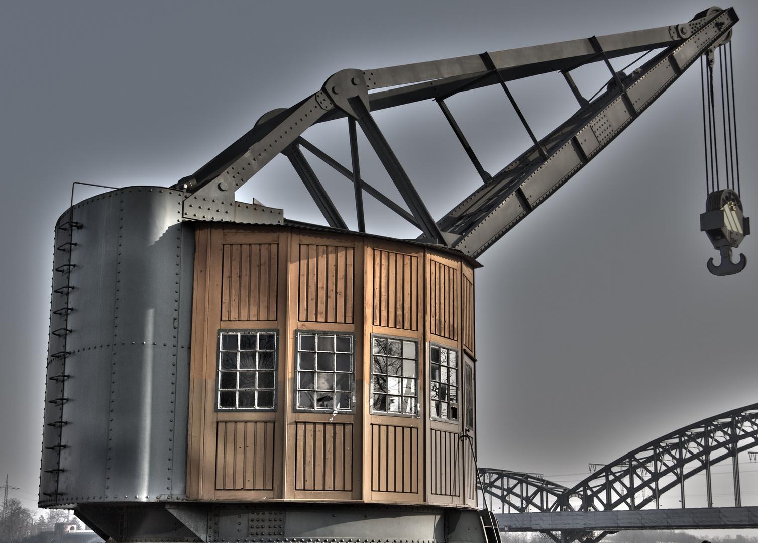 Rheinhafen Ladekran