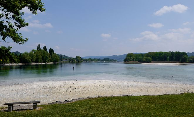 Rheininsel Werd 180 Grad