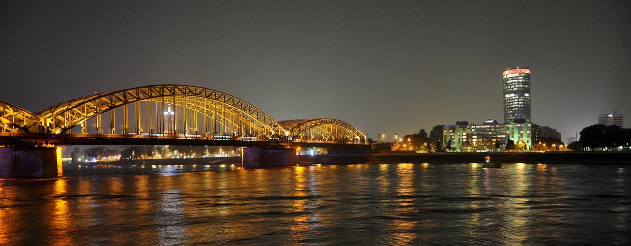 Rheinpanorama mit Hohenzollernbrücke