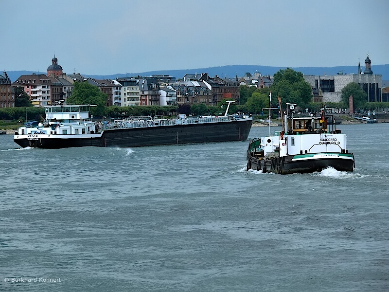 Rheinschifffahrt bei Mainz