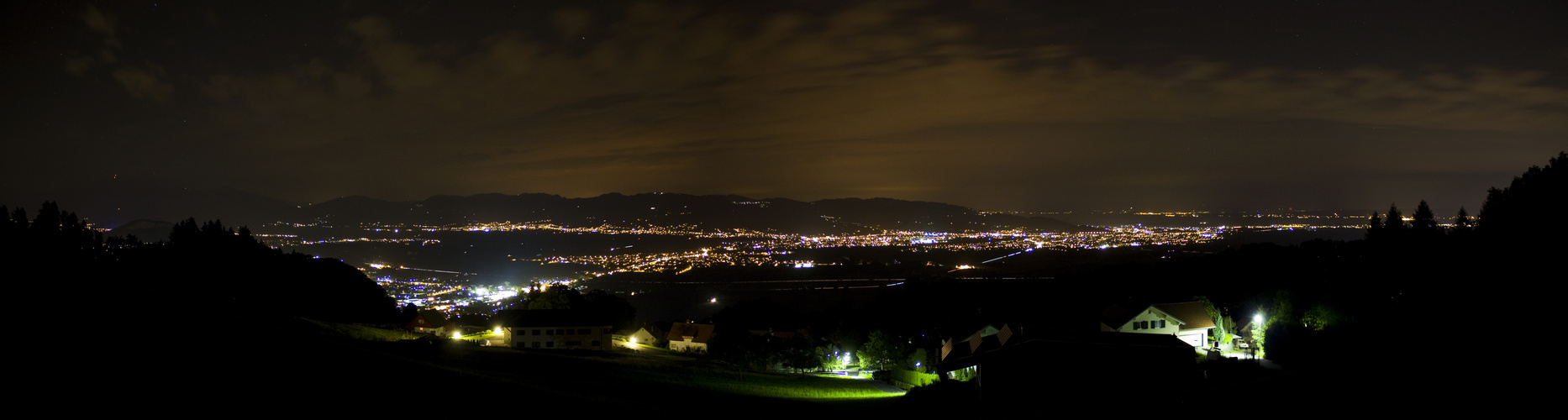 Rheintal at night