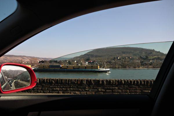 Rhine by car