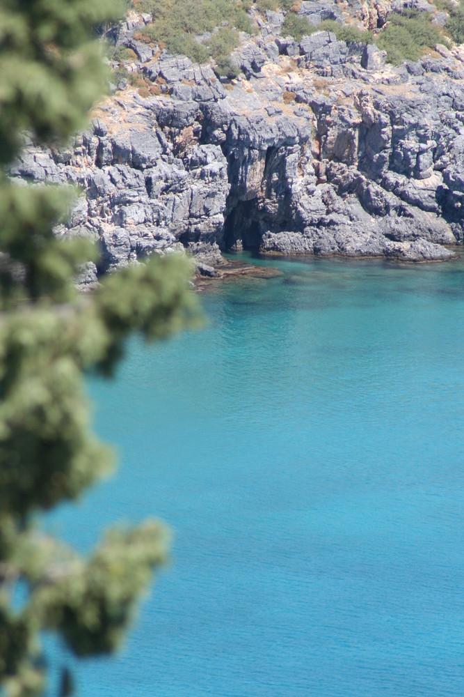 Rhodes et sa mer bleu
