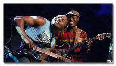 Richard Kabamga Kasonga und Eric Malu-Malu-Murinda (Jupiter & Okwess Intl)