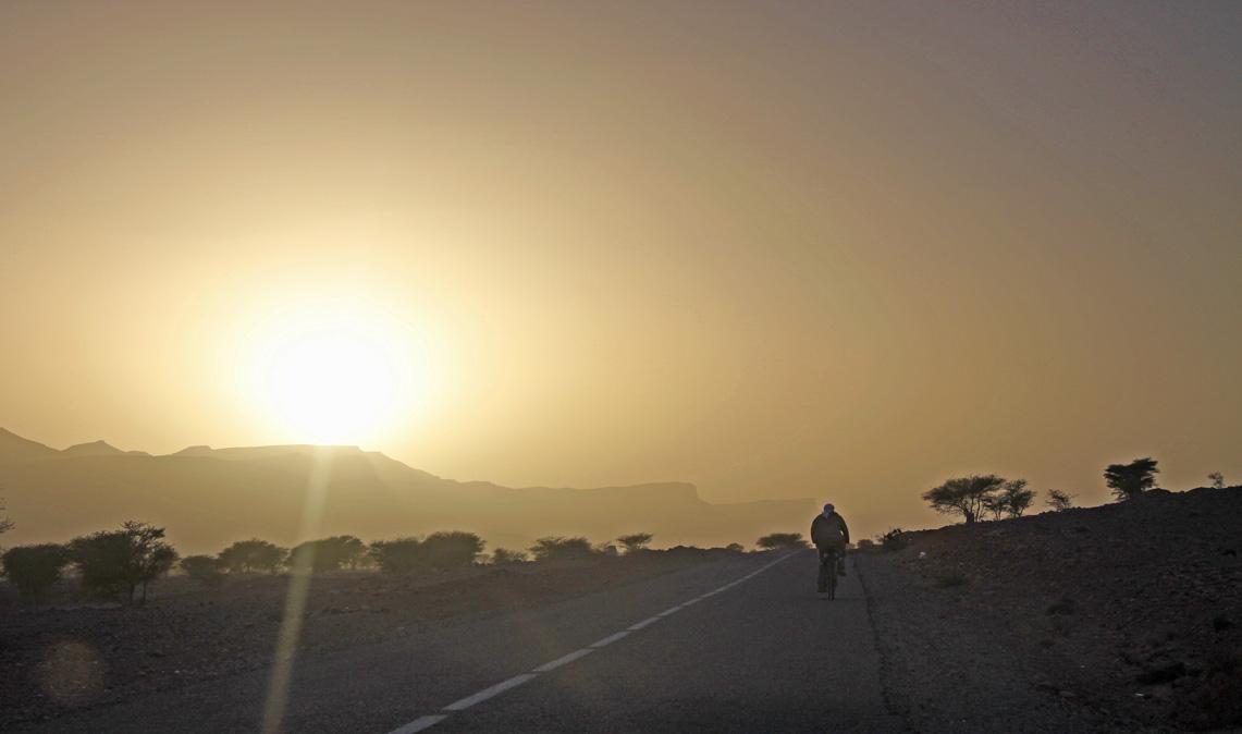 Richtung Sonnenuntergang