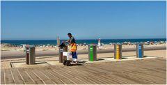 Riciclaggio in spiaggia.