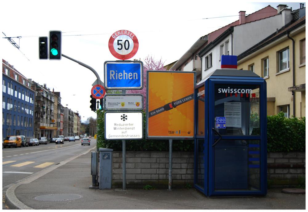 """"""" Riehen """" -  Grenze ( Schweizer Seite )"""