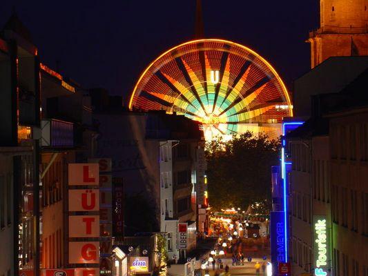 Riesenrad in der Dortmunder Innenstadt
