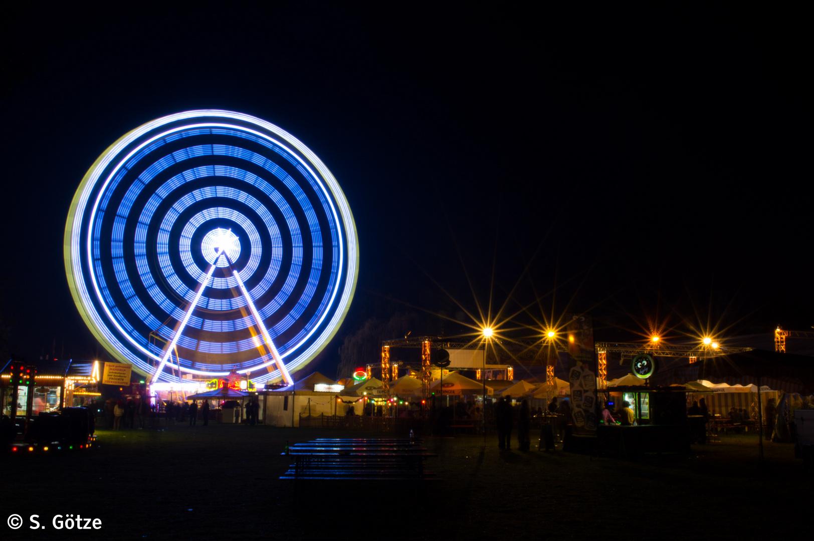 Riesenrad zum Laternenfest in Halle (2014)