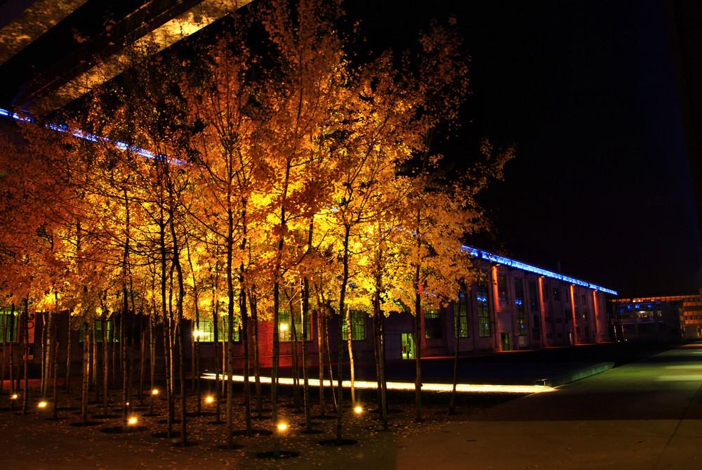 Rieter Gelände bei Nacht