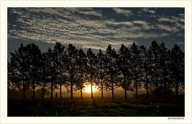 riflessione all'alba