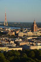 Riga - Abendstimmung über den Dächern der Stadt (August 2013)