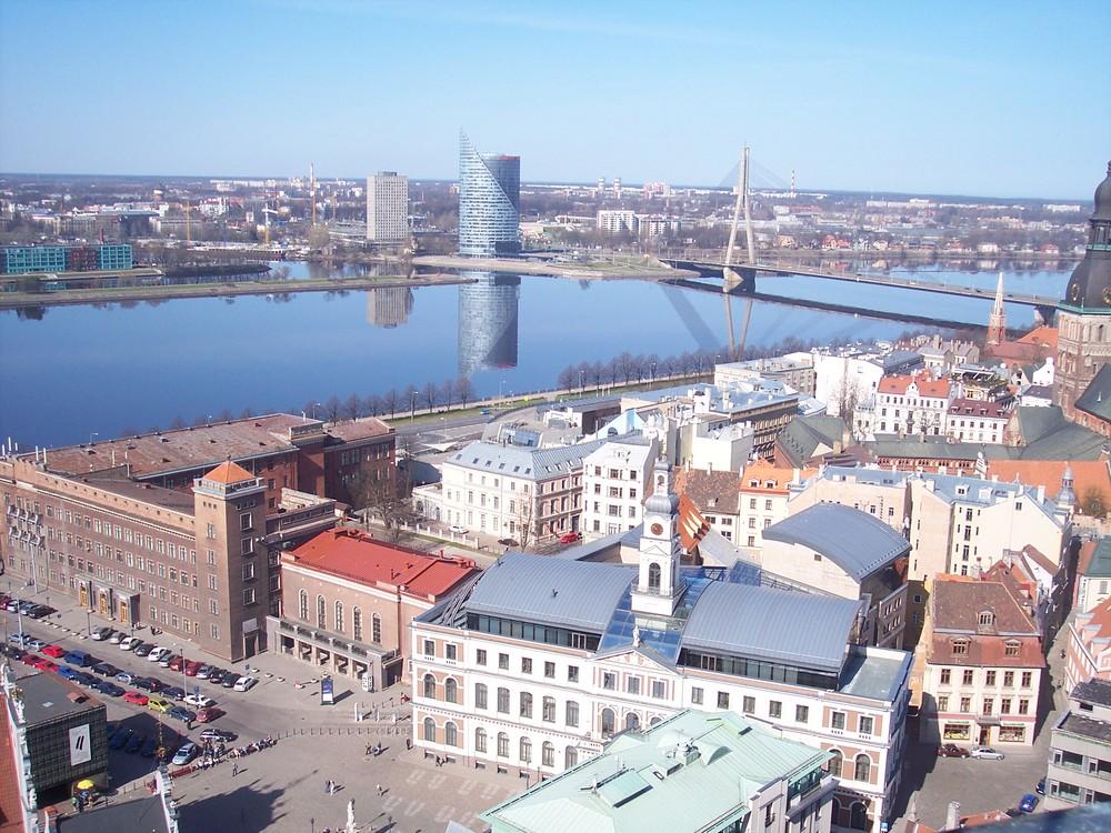Riga Blick auf die Daugava