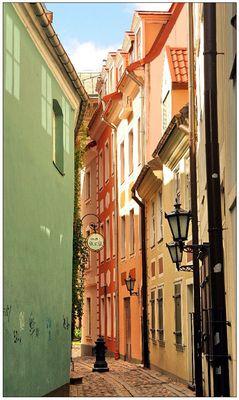 Riga Cobbled Streets