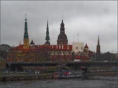 Riga im Regen