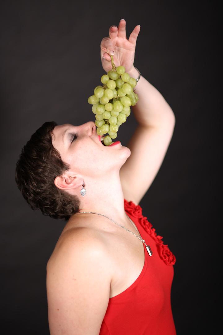 Rike und die Weintrauben...
