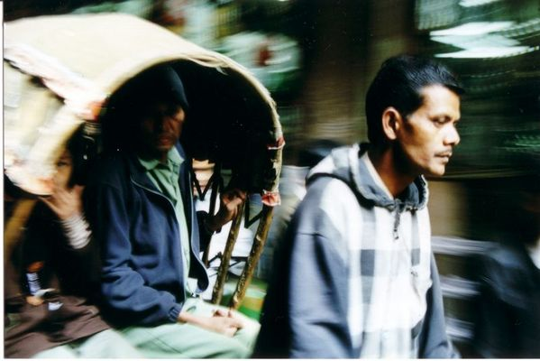 Rikschafahrer in Katmandu