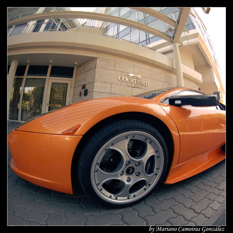 Rim of a Lamborghini