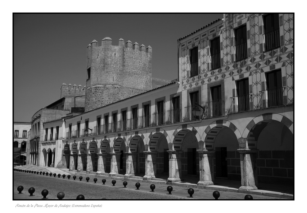 Rincón de la Plaza Mayor de Badajoz (Extremadura España)