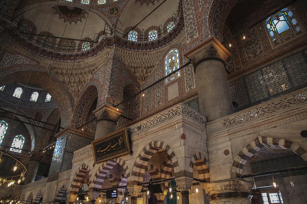 Rincones interior Mezquita Azul (Estambul Turquia)
