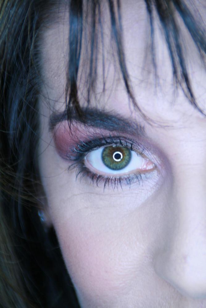 Ringleuchte in den Augen