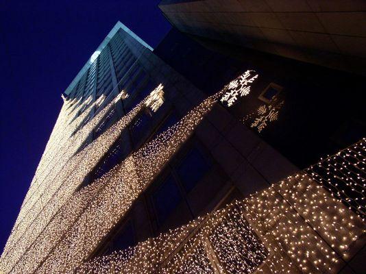 Ringturm Wien im Weihnachtsschmuck