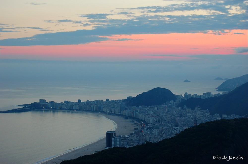 Rio de Janeiro at dusk - Copacabana
