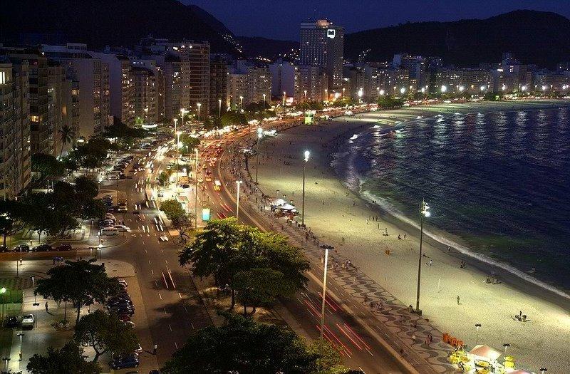 Rio de Janeiro by night.