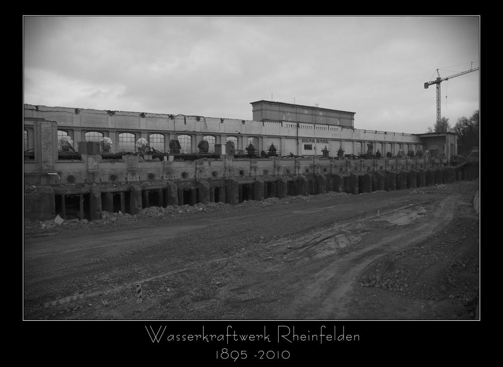 RIP Wasserkraftwerk Rheinfelden