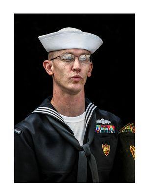 Ritratto di musicante dell'Armata Navale USA