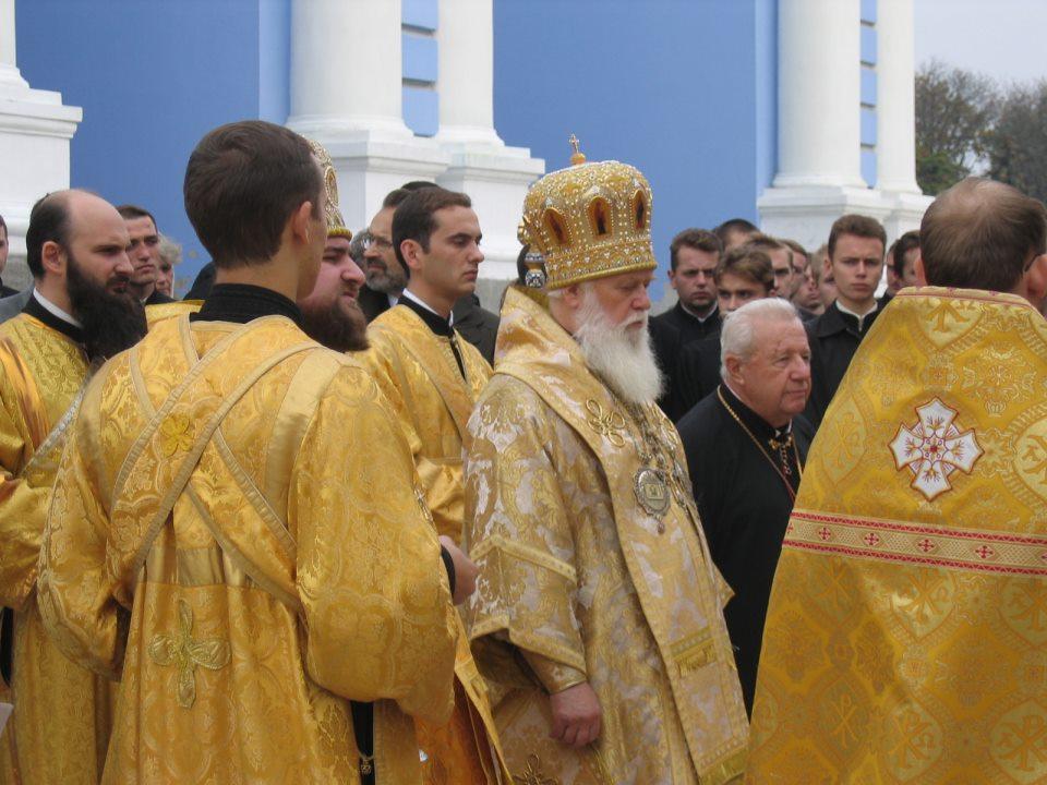 Ritus mit ukrainisch-orthodoxem Patriarchen