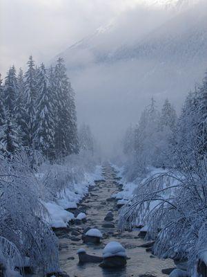 Rivière en hiver !