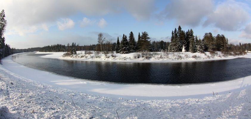 Rivière Jacques Cartier en Décembre