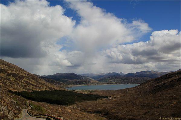 Road to Caol Reatha, Scotland - Straße nach Kylerhea, Isle of Skye Schottland