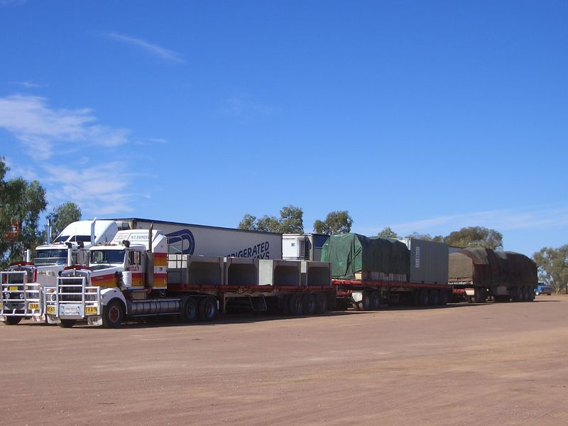 Road Trains on the road