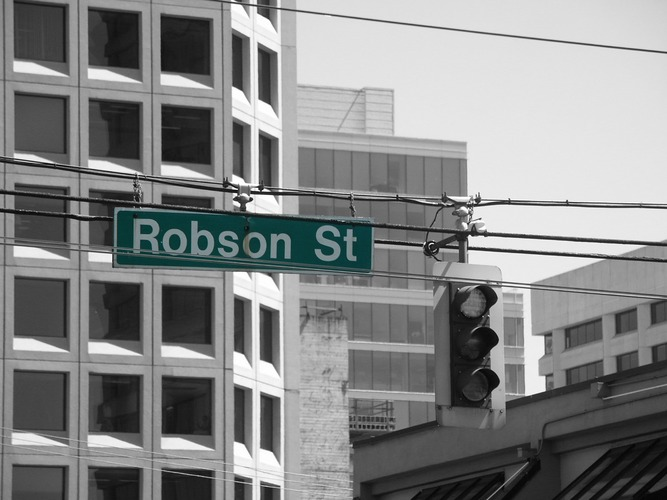 Robson Street in Downtown Vancouver