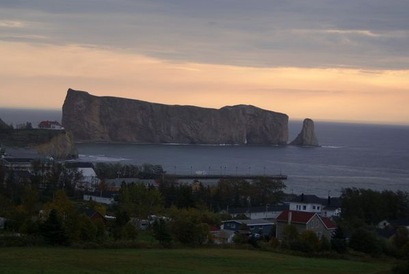 Rocher Percé am Morgen