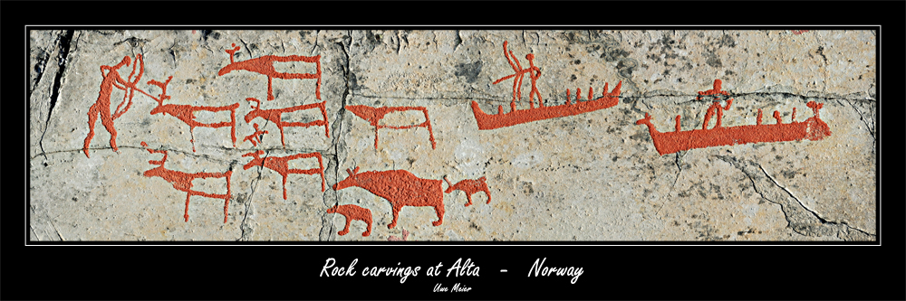 Rock carvings at Alta - Norway