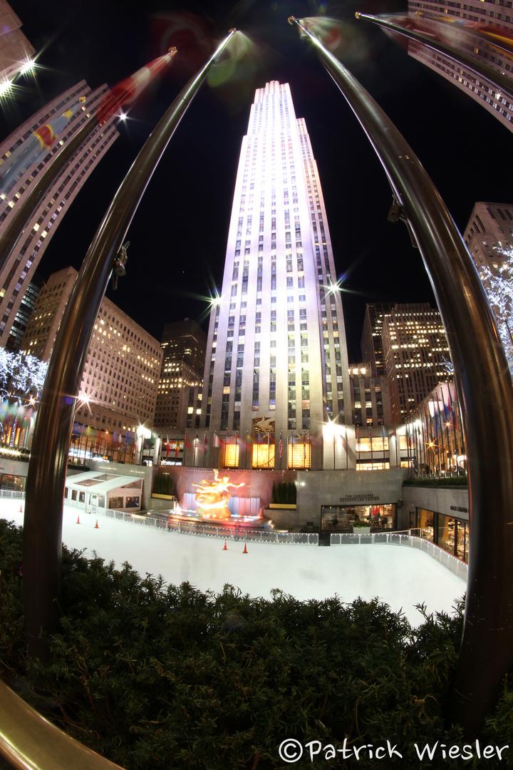 Rockefeller Center Nacht