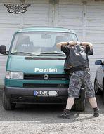 Rocker in Pozileikontrolle...