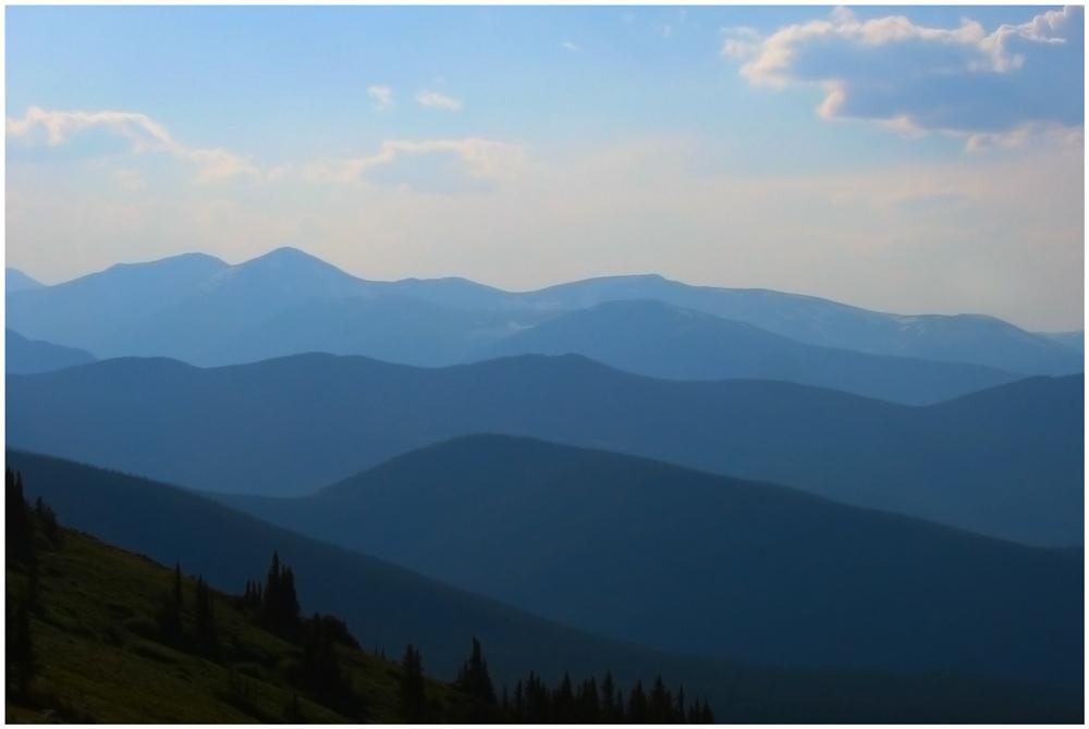Rockies im Dunst