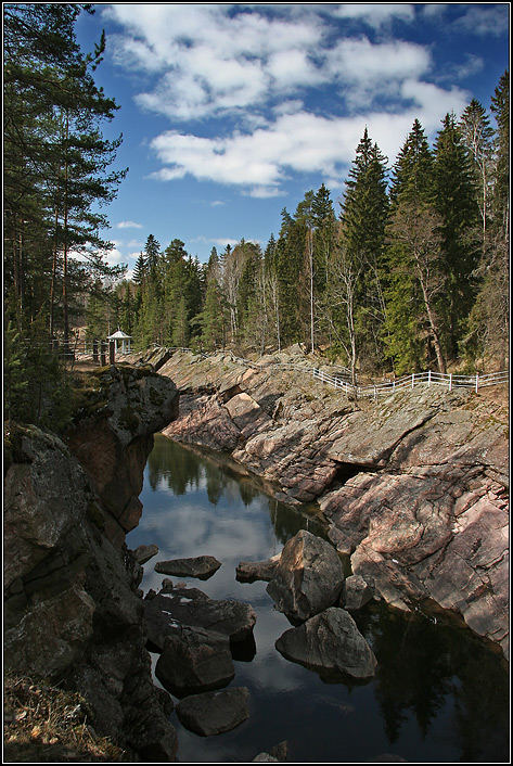 Rocks over the Vuoksa-river