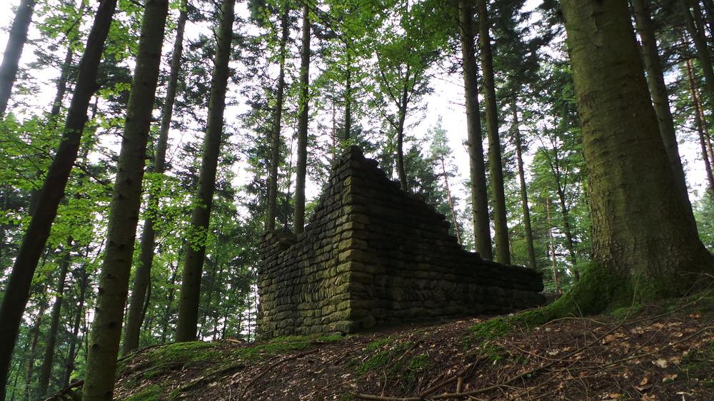 Römerschanz Wachtturm im schwäbischen Wald bei Murrhardt