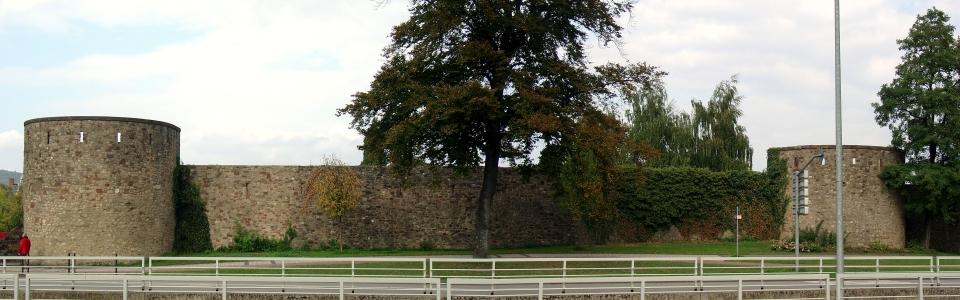 Römische Hinterlassenschaften: Kaiserthermen: Thermenmauer