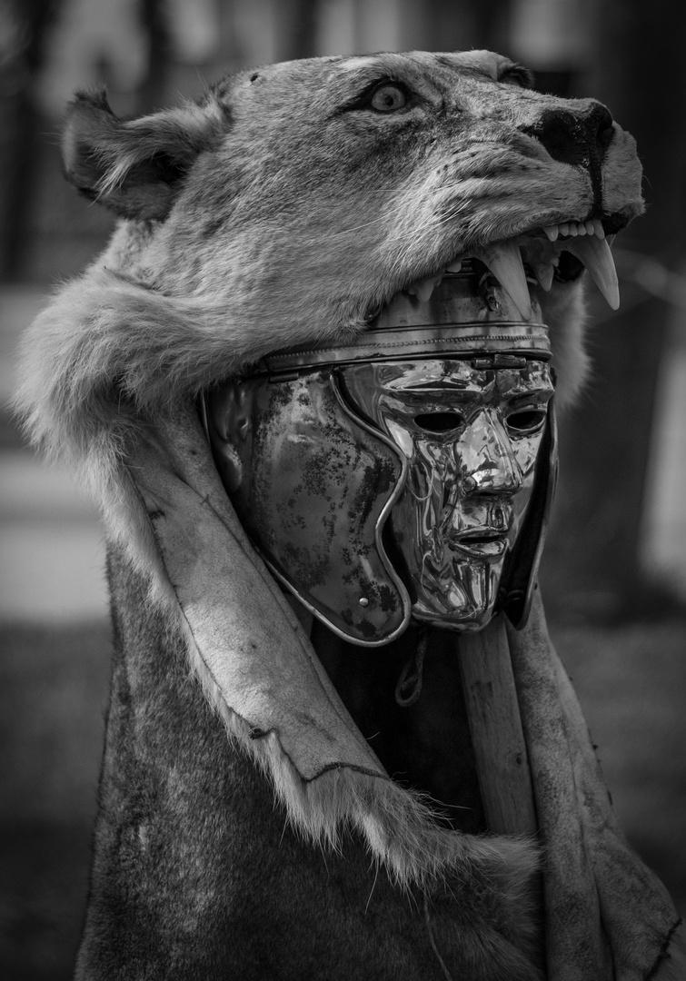 römischen Reitermaske
