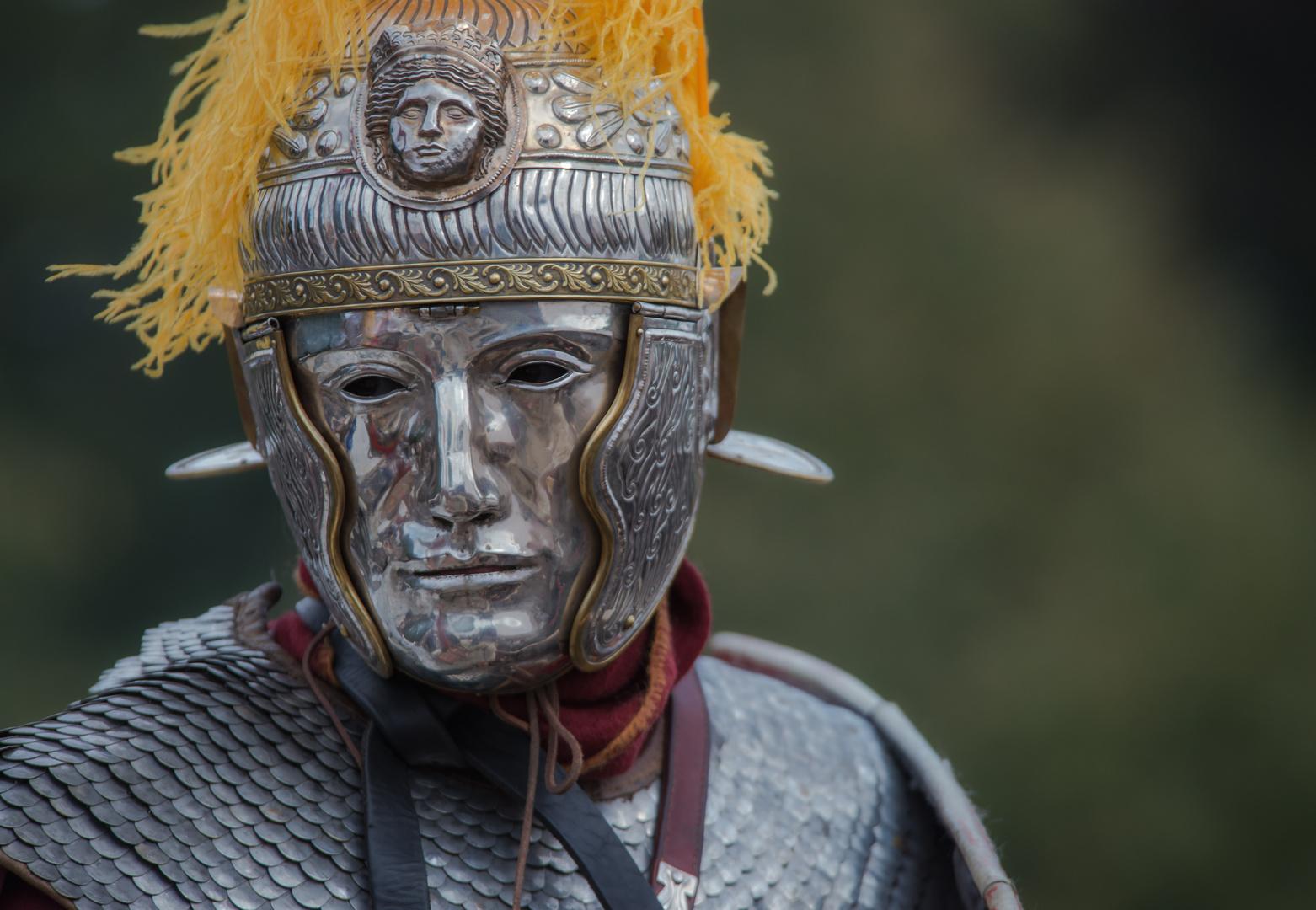 römischer Reiter mit Maske No.1