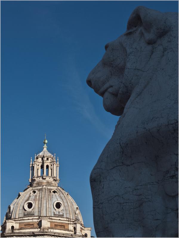 Römisches Gekuppel: mit dem Löwen