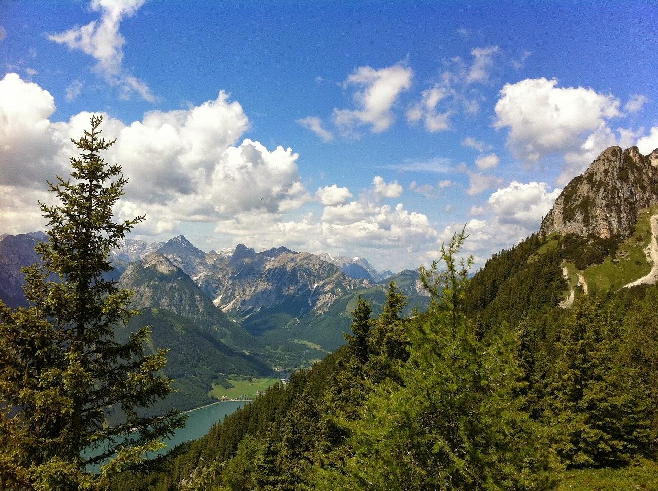 Rofan (Tirol; Blick auf den Achensee)