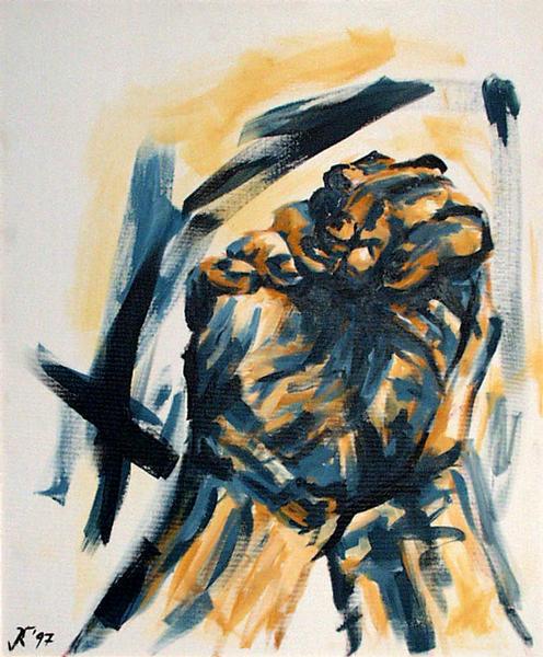 Roger's Hände von Kornelia Riemer